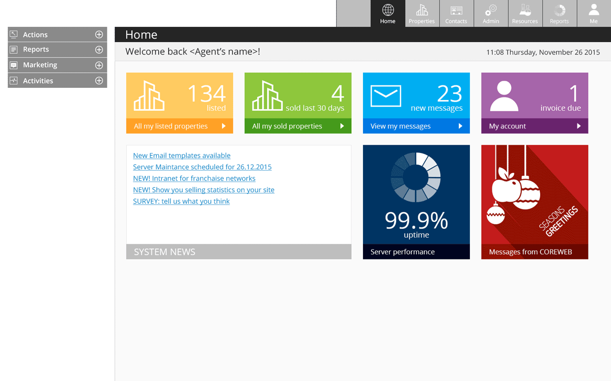 obiimobi-coreweb-cms application