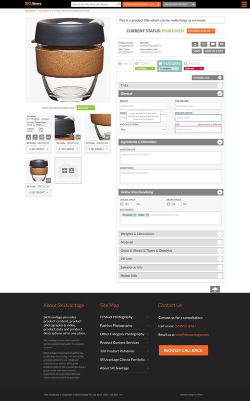 SKU-create-product page